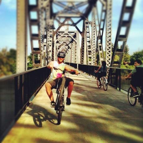 Wheelie Across Water St. Bridge