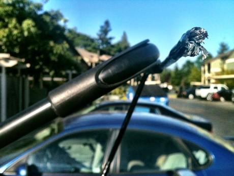 Stolen bike cut cable